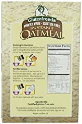 Glutenfreeda\'s Instant Oatmeal,  Natural, 8-Count Packets (Pack of 8) (Packaging may vary)