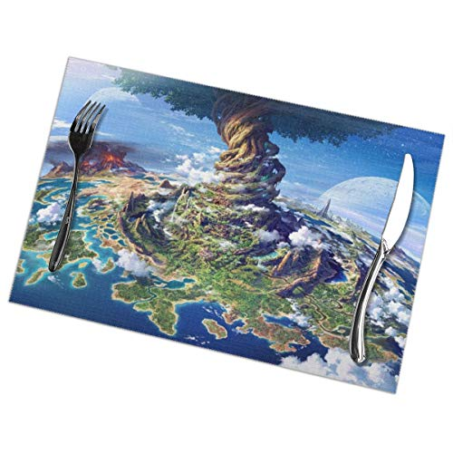 Placemats for Dining Table Set of 6 Fantasy Tree Wear-Resistant Heat-Resistant Kitchen Table Mats 18