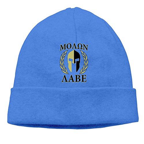 Molon Labe Olive Laurels Mask Beanie RoyalBlue (Skull Sock Mask)