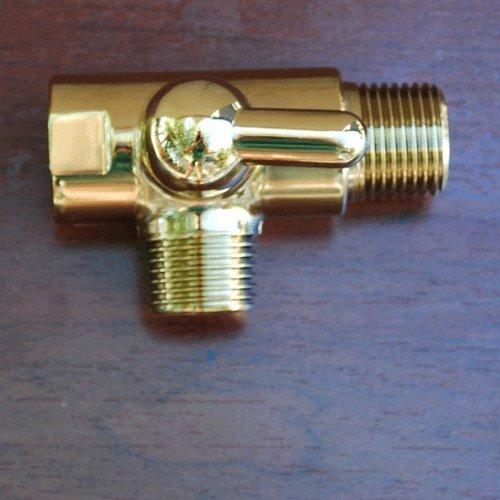 gold dual showerhead diverter valve solid brass bathtub and shower diverter valves amazoncom - Shower Diverter Valve