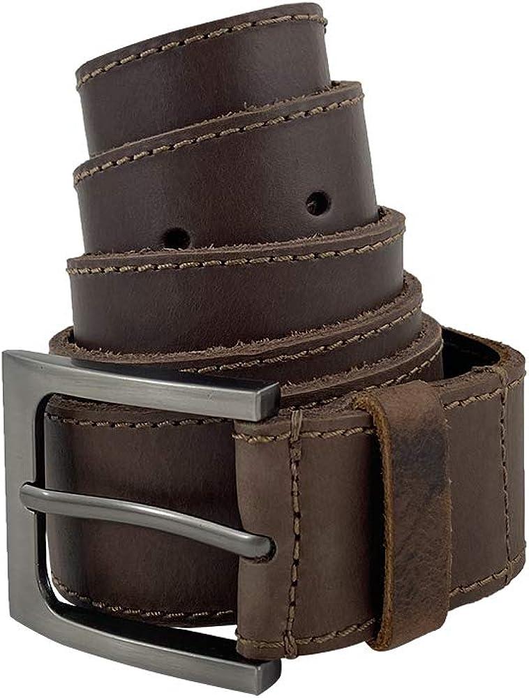 Hide & Drink, Thick Leather Belt With Hidden Pocket Handmade :: Bourbon Brown