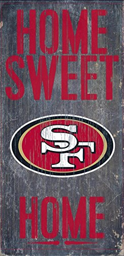 Fan Creations - San Francisco 49ers Wood Sign - Home Sweet Home - San Mall Francisco Outlet