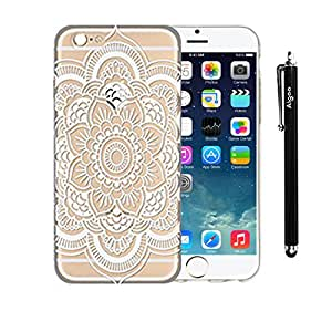 AiGoo 1pc Iphone 6 (4.7) Clear Hard Case Cover, Henna Full Mandala Floral Dream Catcher For iPhone 6 (4.7)