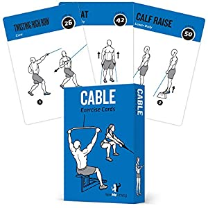 Cable Exercise Cards, Set of 62 – Guided Strength Training Workout for Home or Gym :: Illustrated Fitness Flash Cards…
