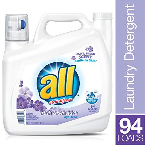 PACK OF 4 - all Liquid Laundry Detergent Fresh & Sensitive, 141 Ounce, 94 Loads