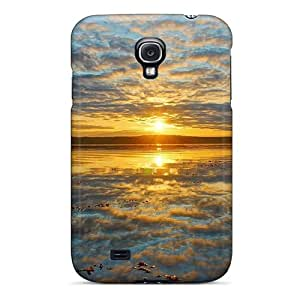 Anti-scratch And Shatterproof Fantastic Sunrise Reflected In Lake Phone Case For Galaxy S4/ High Quality Tpu Case