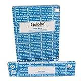Goloka - Pure Aura - Tulasi Incense Sticks - 12 Boxes of 15 Grams ( 180 Grams Total )