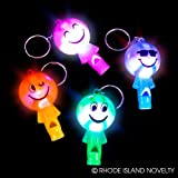 2'' LIGHT-UP SMILELY FACE WHISTLE KEYCHAIN, Case of 288