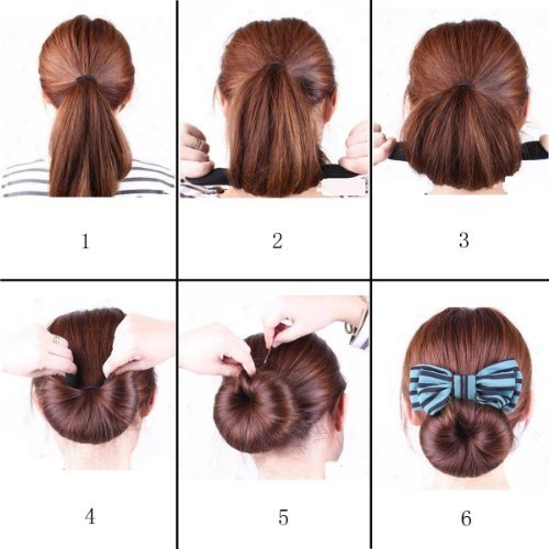 Surprising Amazon Com Beaute Galleria 4Pcs Magic Foam Sponge Donut Short Hairstyles For Black Women Fulllsitofus