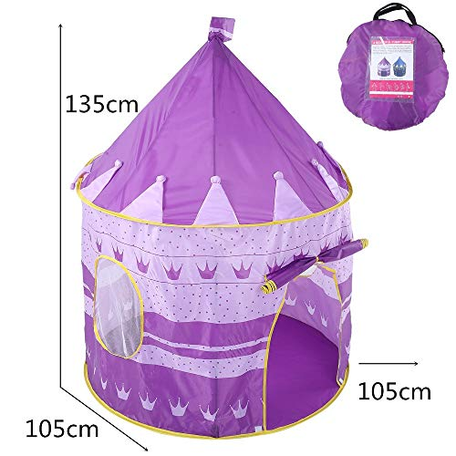 Sviper Kids Play Tunnels Creative Crown Play Tent Kids Children Indoor Foldable Toys Playhouse Purple Pop Up Tunnel Gift Toy by Sviper (Image #1)
