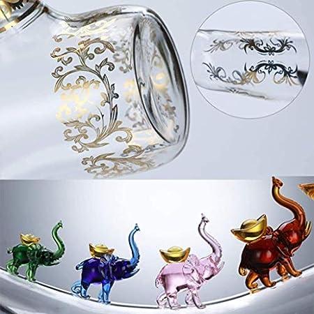 ZKDY Botella de Vino de Cristal: dispensador con Embudo y tapón - Diseño de Grifo, para Vino, licores, Whisky, Bebidas Decantador de Whisky
