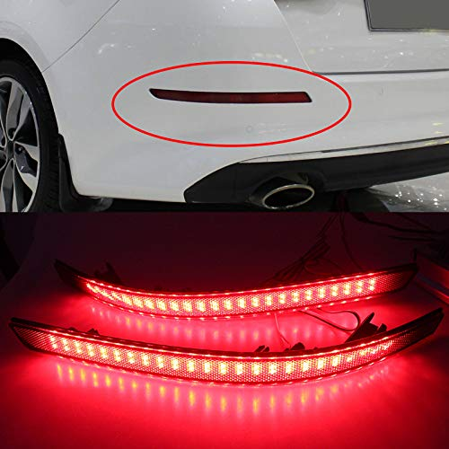 Star-Trade-Inc - For Optima Magentis K5 20112012 2013 2Pcs/set LED Parking Tail Lights Red Rear Bumper Reflector warning tail light