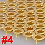 1000 Pieces 1/2'' #4 Grommets and Washers Brass Eyelet Die Press Tool for Posters Tags Bags Sign