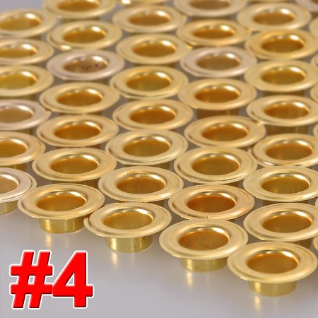 "1000 Pieces 1/2"" #4 Grommets and Washers Brass Eyelet Die Press Tool for Posters Tags Bags Sign"