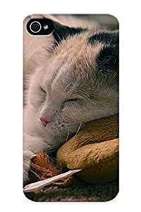 Awesome Design Cat Sleeping Wittoy Hard Case Cover For Iphone 4/4s(gift For Lovers)