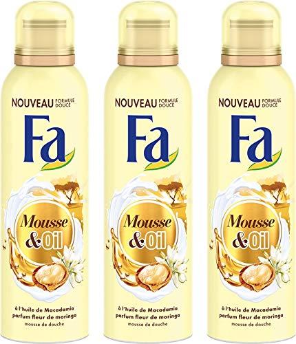 Fa - Mousse De Douche - Gel Douche Spray - Huile De Macadamia - Parfum Fleur De Moringa - 200 Ml - Lot de 3 2321564