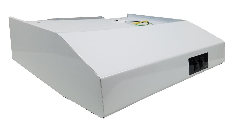 "20"" White Rear Ducted RV Range Hood (12 Volt DC)"
