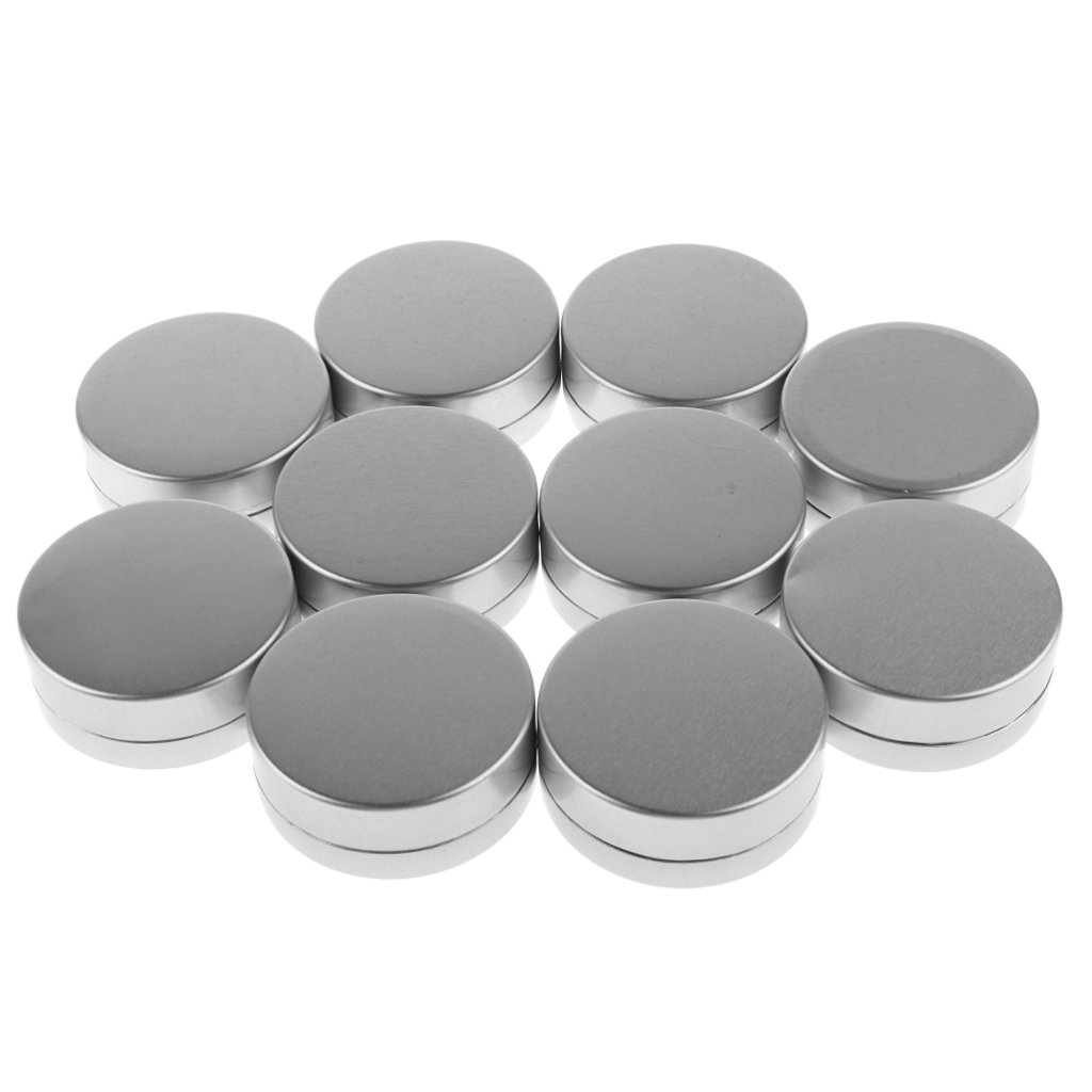 Baosity 10er-Set Aluminium Geltiegel Leerdose Cremedose Tiegel Dosen Behälter für Kosmetik Gel Creme Reise Makeup Töpfchen Döschen Set