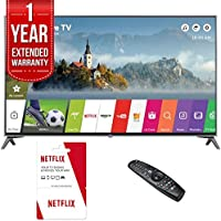 LG 65UJ7700 - 65 UHD 4K HDR Smart LED TV (2017 Model) w/ 6 Months of Netflix + 1 Year Extended Warranty