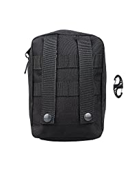 xhorizon TM SR Military Tactical Molle Accessary Outdoor EDC Pack, Sundries Waist Bag Waist Bag, Casual Climbing Hiking Outdoor Rock Gear Holster Pouch Cycling Carrying Pocket for iPhone Samsung