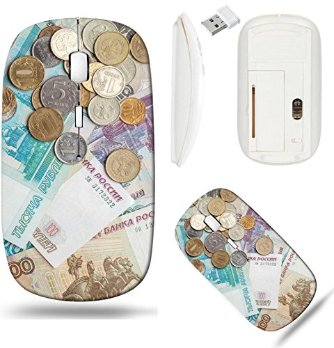 - Liili Wireless Mouse White Base Travel 2.4G Wireless Mice with USB Receiver, Click with 1000 DPI for notebook, pc, laptop, computer, mac book Russianground Rubles banknotes and coins 292112