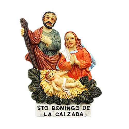 (Santo Domingo Santa Maria Yarameno Church Dominica 3D Refrigerator Fridge Magnet Travel City Souvenir Collection Decoration White Board Sticker)