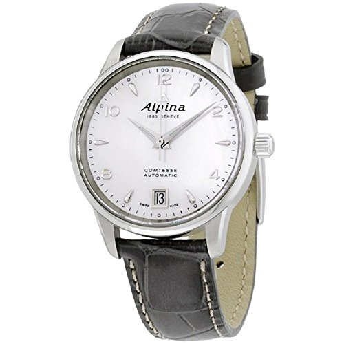 Alpina Comtesse MOP Dial Leather Strap Ladies Watch AL525APW3C6
