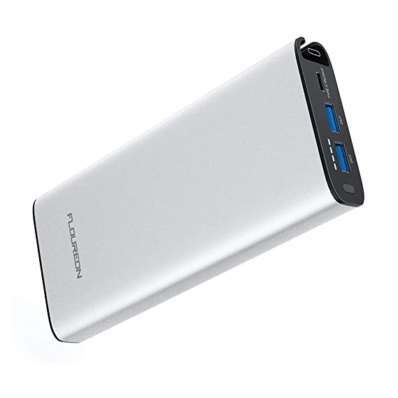 buy popular f7163 023f2 FLOUREON 18W USB-C Power Delivery Power Bank 20100mAh 18W PD Portable  Charger Quick Charge 3.0, Input & Output Type C for USB-C Air/iPad Pro  2018, ...