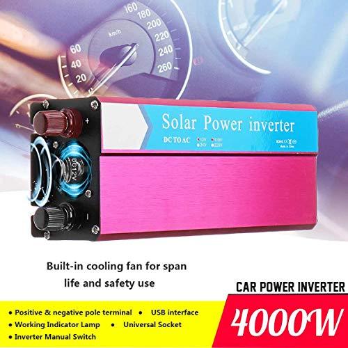 Cacys-Store - Voltage Transformer P eak 2000W Car Solar Power Inverter DC 12/24V to AC 220/ 110V Sine Wave USB Converter Sturdy and Durable