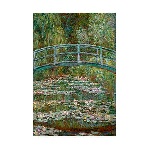 Trademark Fine Art Bridge Over a Pond of Water Lilies by Claude O. Monet, 22x32 (Bridge Over A Pond Of Water Lilies)