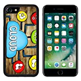 Luxlady iPhone 7 Case and iPhone 8 Case TPU Silicone Bumper Shockproof Anti-Scratch Resistant Hard Tempered Glass Cover IMAGE ID: 34402076 Aerial View of People and Cloud Computing Concepts