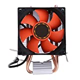 CPU Silent Cooler Fan with PWM Fan,Double Direct Contact CPU Heatpipes Heat Sink Support Intel LGA775/1155/1156 and AMD/AM2/AM2+/AM3