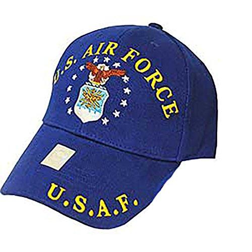 Shield Military Cap - US Military Patriotic Adjustable Cap Hat - USAF - US Air Force Shield Logo