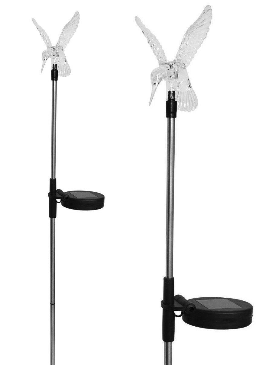 Stunning Acrylic Solar Hummingbird light stake (Box of 2) Solaration 1002-2
