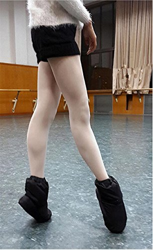 Shoes Women Dance WENDYWU Black Ballet Bootie for and Warm Men YxI6S6qw