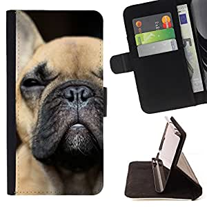 For Samsung ALPHA G850 French Bulldog Puppy Dog Boston Terrier Style PU Leather Case Wallet Flip Stand Flap Closure Cover