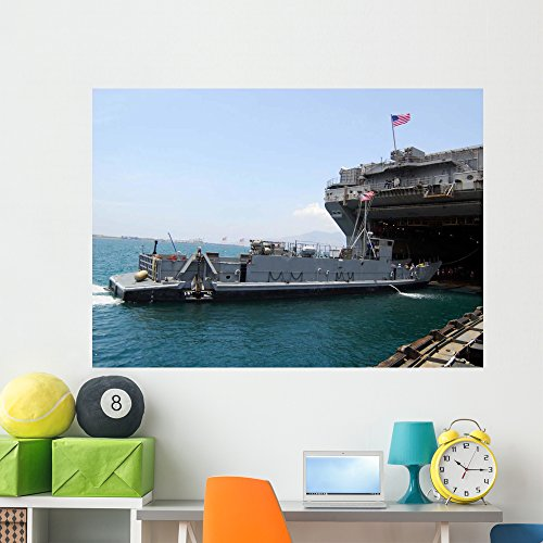 Wallmonkeys Landing Craft Utility Moving Wall Mural Peel and Stick Graphic (60 in W x 43 in H) WM143612