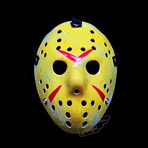 Wetaben(TM) Friday vs Jason mask Hockey Cosplay Costume HalloWetabenen Killer Horror Mask[ Yellow ]