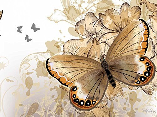 Butterfly Rhapsody -Oil Painting On Canvas Modern Wall Art Pictures For Home Decoration Wooden Framed (20X16 Inch, -