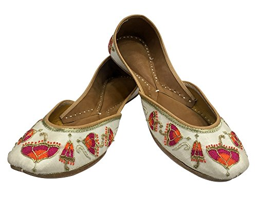 Steg N Style Brud Flats Bröllop Skor Indiska Designer Skor Punjabi Jutti Mojari Juti