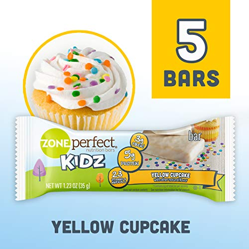 (Zone Perfect Kidz Nutritional Bars, Yellow Cupcake, 1.23 oz, 5 Count)