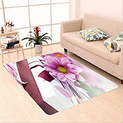 Sophiehome skid Slip rubber back antibacterial Area Rug elegant gift box with daisy flower 74101954 Home Decorative