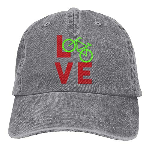 Love Bicycle2 Unisex Baseball Cap Cotton Denim Adjustable Hi