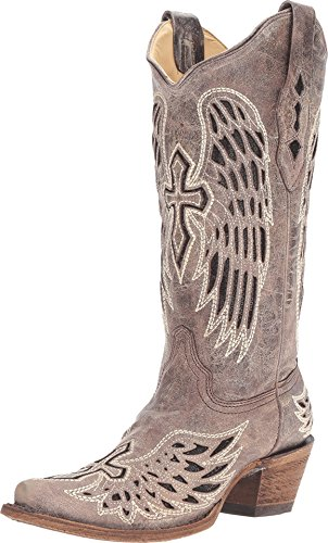 Corral Boots Women's A1241 Brown/Black 9.5 B US B (M)