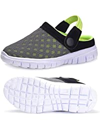 Unisex Kids Garden Clogs Mesh Slippers Sandals Summer Beach Slip On Shoes Outdoor Walking Slippers (Toddler/Little Kid)