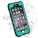 HESGI Waterproof Case iPhone 6S Plus Waterproof Case, Ip-68 Waterproof Shockproof Dust Proof Snow Proof Full Body Protective Case Cover for Apple iPhone 6S Plus/6 Plus 5.5 - Teal