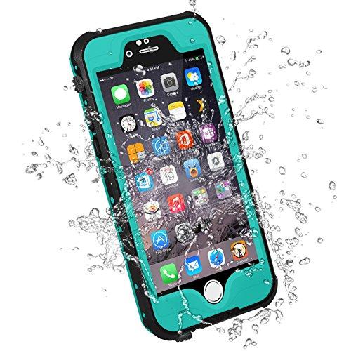 HESGI Waterproof Case iPhone 6S Plus Waterproof Case, Ip-68 Waterproof Shockproof Dust Proof Snow Proof Full Body Protective Case Cover for Apple iPhone 6S Plus/6 Plus 5.5 - Teal
