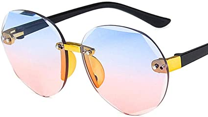 QTMD Kinder Sonnenbrille Kinder Sonnenbrille Metall Runde Perle M/ädchen Junge Childrend Sonnenbrille///UV400