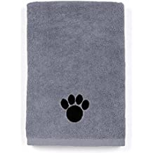 DRI Ultra Absorbent Microfiber Pet Towel (Large (40 Inch by 28 Inch), Grey)