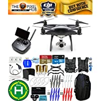 DJI Phantom 4 Pro+ Black Obsidian Edition Drone Pro Bundle With Blue Pro II Backpack, Vest Strap, Extra Props, Filter Kit Plus Much More (1 Battery)